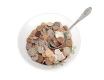 货币的膳食 库存图片