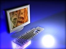 货币监控程序 库存图片