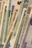货币纸零件 库存图片