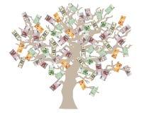 货币结构树 向量例证