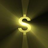 货币美元火光光符号 库存例证