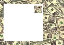 货币背景边界 库存照片