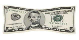 货币舒展您 库存图片