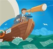 货币航行海运 免版税库存图片