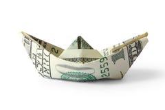 货币船 库存图片