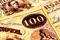 货币葡萄酒 库存图片