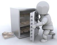 货币藏起来 免版税库存图片