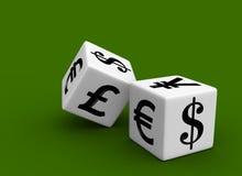货币赌博的市场 库存照片