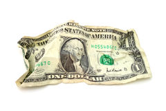 货币起了皱纹 免版税库存照片