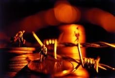 货币运行中 库存照片