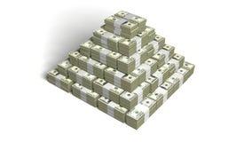 货币金字塔 免版税库存图片