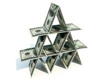 货币金字塔 图库摄影