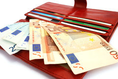 货币钱包 免版税库存照片