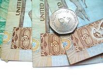 货币阿拉伯联合酋长国 免版税库存照片