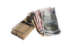 货币陷井⬠(裁减路线) 免版税图库摄影