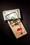 货币陷井 库存照片