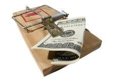 货币陷井 免版税库存图片