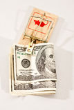 货币陷井 库存图片