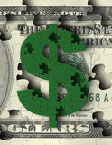 货币难题 库存照片