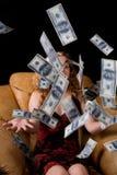 货币雨 免版税库存图片