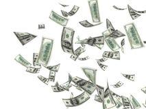 货币雨 库存照片