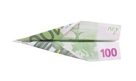 货币飞机 免版税图库摄影