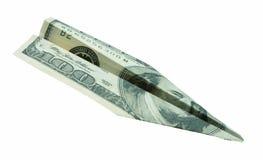 货币飞机 图库摄影