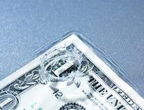 货币飞溅 免版税图库摄影
