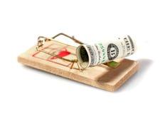 货币鼠标陷井 库存图片
