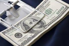 货币鼠标陷井 免版税图库摄影