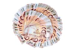 货币1000泰铢泰国钞票位置传播了双 库存照片