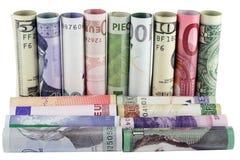 货币s墙壁 库存图片