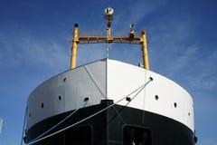 货物前面船 库存图片