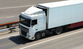 货物卡车运输 库存图片