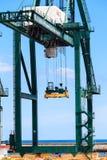 货物口岸在圣克鲁斯de特内里费岛,加那利群岛 库存图片