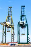 货物口岸在圣克鲁斯de特内里费岛,加那利群岛 免版税库存照片
