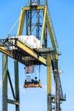 货物口岸在圣克鲁斯de特内里费岛,加那利群岛 免版税库存图片