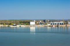 货物口岸多瑙河 罗马尼亚 免版税库存图片