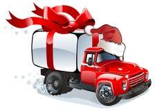 货物圣诞节送货卡车向量 免版税库存图片