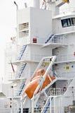 货物救生艇现代船 库存照片