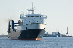 货物港口船 免版税库存照片