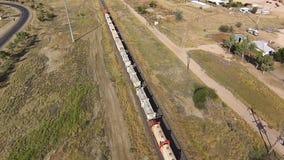 货物火车的空中射击 影视素材