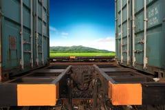 货物的运输由铁路 库存图片