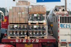 货物盒  免版税库存图片