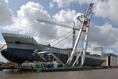 货物码头干燥船 库存照片