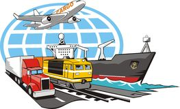 货物符号运输 向量例证