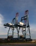 货物起重机造船厂 免版税库存图片