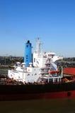货物采煤船 库存图片