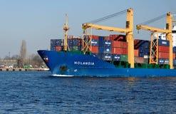 货物holandia船 免版税库存图片