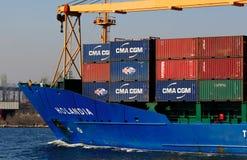 货物holandia船 图库摄影